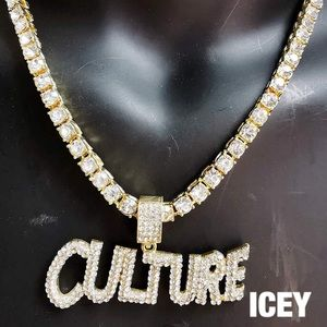 18K Solid Gold Faux Diamond Culture Tennis Chain